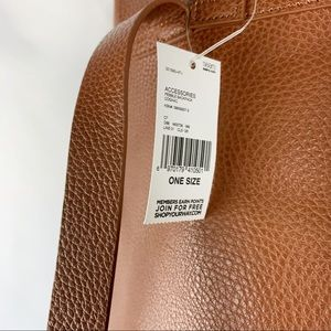Sears Bags - Leatherette Cognac Pebble Backpack Medium